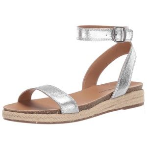 Lucky Garston ankle strap sandal NiB silver 7.5